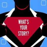 Handwriting tekst pisze Jaki S Twój Storyquestion Pojęcia znaczenie Łączy Komunikuje łączliwość związek royalty ilustracja