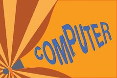 Handwriting tekst pisze komputerze Pojęcia znaczenia urządzenie elektroniczne sposobny otrzymywać dane spełniania operacje royalty ilustracja
