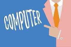 Handwriting tekst pisze komputerze Pojęcia znaczenia urządzenie elektroniczne sposobny otrzymywać dane spełniania operacje ilustracja wektor