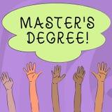 Handwriting tekst pisze Mistrzowskim S stopniu Pojęcie znaczy akademickiego stopień nagradzającego uniwersytetami na szkołę  ilustracji