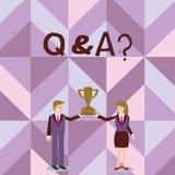 Handwriting tekst pisze Q I pytaniu Pojęcia znaczenie odpowiada w którym pyta pytania i innego jeden demonstrujący ilustracja wektor