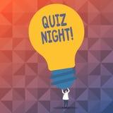 Handwriting tekst pisze quiz nocy Pojęcia znaczenia wieczór testa wiedzy rywalizacja między jednostki osobą ilustracji