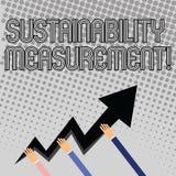 Handwriting tekst pisze trwałość pomiarze Pojęcia znaczenia środowiskowego socjalny miara i ekonomiczne domeny ilustracja wektor