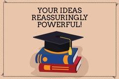 Handwriting tekst pisze Twój pomysłach Reassuringly Potężnych Pojęcia znaczenia władzy tranquillity w twój myślach Barwi ilustracji