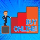 Handwriting tekst pisze zakupie Online Pojęcie znaczy elektronicznego handel który pozwoli konsumentów bezpośrednio kupować towar ilustracji