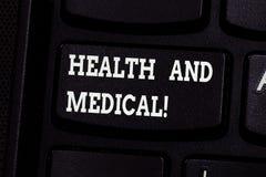 Handwriting tekst pisze zdrowie I Medyczny Pojęcia znaczenia warunku organizm który wykonuje swój funkcje normalnie obrazy stock