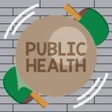 Handwriting tekst pisze zdrowie publiczne Pojęcia znaczenie Promuje zdrowych style życia społeczność i swój seans royalty ilustracja