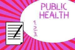 Handwriting tekst pisze zdrowie publiczne Pojęcia znaczenie Promuje zdrowych style życia społeczność i swój seans ilustracja wektor