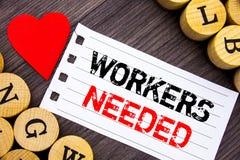 Handwriting tekst pokazuje pracowników Potrzebujących Konceptualna fotografii rewizja Dla kariera zasobów pracowników bezrobocia  Zdjęcia Stock