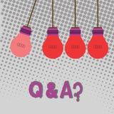 Handwriting tekst Q I pytanie Pojęcia znaczenie w którym pyta pytania i inną odpowiedź demonstrujący one kolor ilustracja wektor
