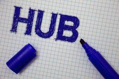Handwriting teksta centrum Pojęcia znaczenia przyrządu komputerów złączony centrum koło aktywność notatnika transport Obciosująca Fotografia Royalty Free