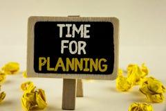 Handwriting teksta czas Dla Planować Pojęcia znaczenia początek projekt Robi decyzjom Organizatorskiemu rozkładowi pisać na Drewn Obraz Royalty Free
