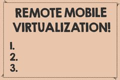 Handwriting teksta Daleka Mobilna wizualizacja Pojęcia znaczenie może daleko kontrolować Android maszynę wirtualną Łamającą ilustracja wektor