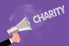 Handwriting teksta dobroczynność Pojęcia znaczenia organizacja zapewnia pomoc Podnosić pieniądze dla poparcia pokazuje w potrzebi royalty ilustracja