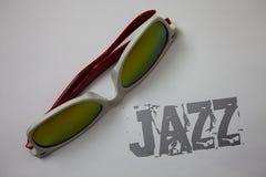 Handwriting teksta jazz Pojęcia znaczenia typ muzyka czarnego Amerykańskiego początku Muzykalnego gatunku rytmu Grunge pomysłów w Fotografia Royalty Free