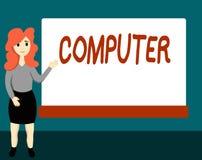 Handwriting teksta komputer Pojęcia znaczenia urządzenie elektroniczne sposobny otrzymywać dane spełniania operacje royalty ilustracja
