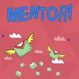 Handwriting teksta mentor Pojęcia znaczenia osoba która daje radzie lub poparciu młody mniej doświadczony ilustracji
