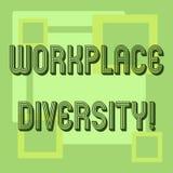Handwriting teksta miejsce pracy różnorodność Pojęcie znaczy Różną biegową rodzaju wieka orientację seksualną pracownicy ilustracji