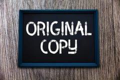 Handwriting teksta oryginału kopia Pojęcia znaczenia Głównego pisma Niewydrukowana Oznakująca Patentowana Mistrzowska lista obraz stock