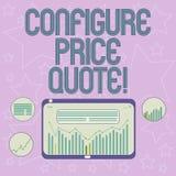 Handwriting teksta pisać Konfiguruje ceny wycenę Pojęcia znaczenia oprogramowanie używa firmami dla kosztować towarowego Digital royalty ilustracja