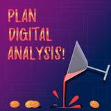 Handwriting teksta planu Digital analiza Pojęcia znaczenia analiza jakościowy i ilościowy cyfrowych dane koktajlu wina szkło zdjęcie royalty free
