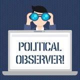 Handwriting teksta Polityczny obserwator Pojęcia znaczenie teletechniczny demonstrujący czego przegląda arena polityczna mężczyzn ilustracja wektor