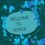 Handwriting teksta powitanie Korea Pojęcia znaczenie Przyjeżdża Azjatyckiego nowożytnego kraju kultury różne gałąź ilustracji