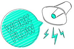 Handwriting teksta pracy przepływ Pojęcia znaczenia ciągłość pewny zadanie do i z biura lub pracodawcy megafonu głośnika g ilustracja wektor