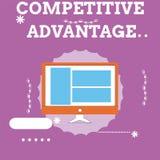 Handwriting teksta przewaga konkurencyjna Pojęcia znaczenia firmy krawędź nad inną Korzystnie Biznesową pozycją ilustracja wektor