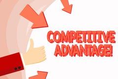 Handwriting teksta przewaga konkurencyjna Poj?cia znaczenia warunek kt?ry stawia firmy w korzystnie pozycji r?ce ilustracji