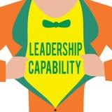 Handwriting teksta przywódctwo potencjał Pojęcia znaczyć jaki lider może budować pojemność Prowadzić Efektywnie royalty ilustracja