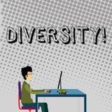 Handwriting teksta różnorodność Pojęcia znaczenie Komponuje różnej element Różnorodnej rozmaitości Wieloetniczny biznesmen ilustracja wektor