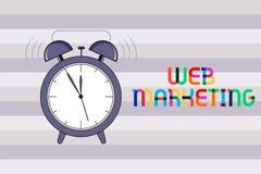 Handwriting teksta sieci marketing Pojęcie znaczy Elektronicznego handlu reklamę przez interneta Online sprzedawcy obrazy royalty free