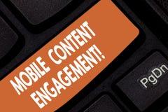 Handwriting teksta wiszącej ozdoby zawartości zobowiązanie Pojęcia znaczenie Pcha zmuszający doświadczenie mobilnych użytkowników obraz royalty free