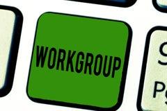 Handwriting teksta Workgroup Pojęcia znaczenia grupa pokazywać czemu normalnie prac wpólnie Drużynowych Coworkers obrazy royalty free
