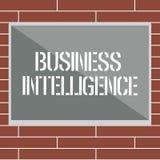 Handwriting teksta writing business intelligence Pojęcia znaczenia najlepsza praktyka Optymalizować informacja ilustracja wektor