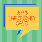 Handwriting teksta writing I ankieta Mówimy Pojęcia znaczenia rezultaty wybory komunikuje pokazywać informacje zwrotne stertę ilustracja wektor