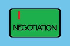 Handwriting teksta writing negocjacja Pojęcia znaczenia dyskusja celująca przy dojechanie zgody przeniesienia legalnym posiadanie ilustracji