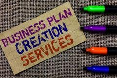 Handwriting teksta writing planu biznesowego tworzenia usługa Pojęcia znaczenie płaci dla profesjonalisty tworzyć strategii Paper zdjęcie stock