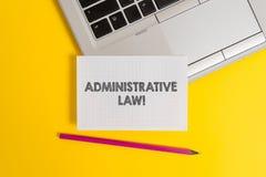 Handwriting teksta writing prawo administracyjne Poj?cia znaczenia cia?o regu?a przepis?w rozkazy tworzy? rz?dem zdjęcia stock