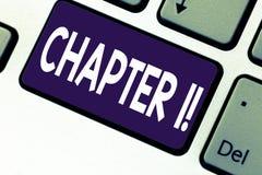 Handwriting teksta writing rozdział 1 Pojęcia znaczenie Zaczyna coś nowego lub robi dużym zmianom w ones podróż zdjęcia royalty free
