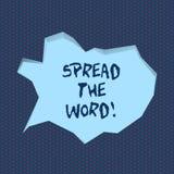 Handwriting teksta writing Rozprzestrzenia słowo Pojęcia znaczenie Komunikuje wiadomość mnóstwo seans Robi everyone zna ilustracja wektor
