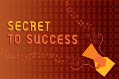 Handwriting teksta writing sekret sukces Pojęcie znaczy Niewytłumaczonego doścignięcie sława status społeczny lub bogactwo ilustracja wektor