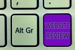 Handwriting teksta writing strony internetowej przegląd Pojęcia znaczenia przeglądy które mogą wysyłający o biznesach i usługa obraz royalty free