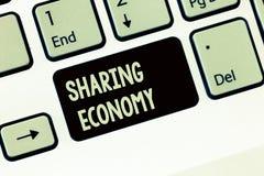Handwriting teksta writing udzielenia gospodarka Pojęcia znaczenia model ekonomiczny opierający się na providing dostęp towary obrazy royalty free