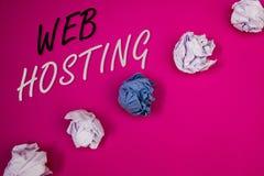 Handwriting teksta writing web hosting Pojęcia znaczenia serweru usługa która pozwoli somebody robić stronie internetowej dostępn Obraz Royalty Free