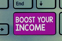 Handwriting teksta writing zwiększenie Twój dochód Pojęcia znaczenia wzrost twój pieniądze Inwestorski Freelancing Handlować obrazy royalty free