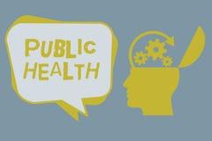 Handwriting teksta zdrowie publiczne Pojęcia znaczenie Promuje zdrowych style życia społeczność i swój seans ilustracja wektor