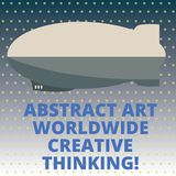 Handwriting text Abstract Art Worldwide Creative Thinking. Concept meaning Modern inspiration artistically Torpedo Missile above a. Blank Rectangular Shape form royalty free illustration