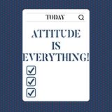 Handwriting text Attitude Is Everything. Concept meaning Motivation Inspiration Optimism important to succeed. Handwriting text Attitude Is Everything. Concept vector illustration